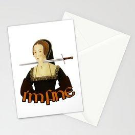 Anne Boleyn - I'm fine Stationery Cards