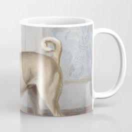 Vintage Pug Painting Coffee Mug