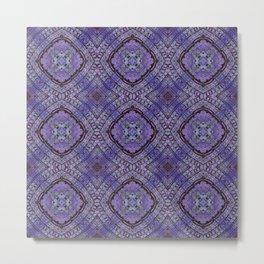 Purple Zen Doodle Pattern Metal Print