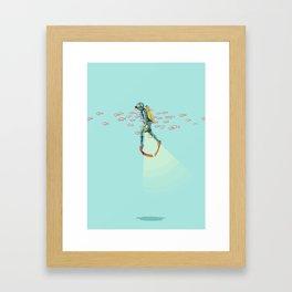 FLOAT - Under the sea Framed Art Print
