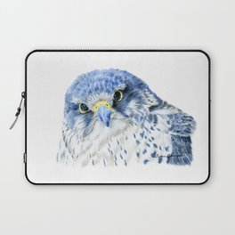 """""""Here's Looking At You"""" painting of a Gyrfalcon by Teresa Thompson Laptop Sleeve"""