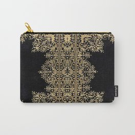 Black and Gold Filigree Carry-All Pouch