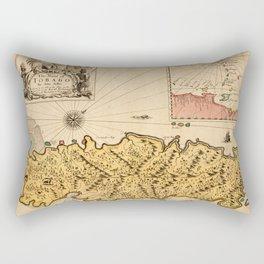 Map Of Tobago 1680 Rectangular Pillow