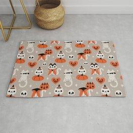 Halloween Kitties (Gray) Rug