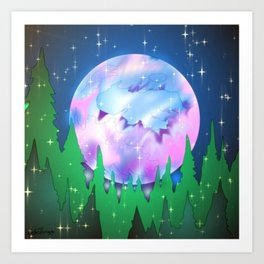Pastel Moon Art Print