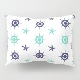 AFE Nautical Helm Wheels & Starfish Pillow Sham