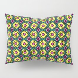 Dainty Yellow Flowers with Hot Pink Pistil Pillow Sham