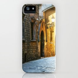 Barcelona - Early Morning in the Barrio Gotico iPhone Case