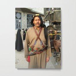 Iraqi man in traditional clothing Metal Print