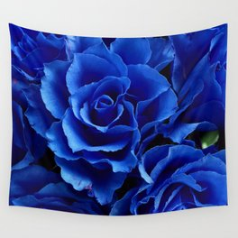 Blue Roses Flowers Plant Romance Wall Tapestry