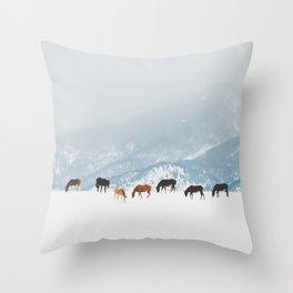 Winter Pastures Throw Pillow