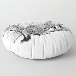 Leaf Foxes Floor Pillow