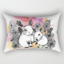 Pastel Bunnies Rectangular Pillow