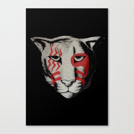 war paint cougar Canvas Print