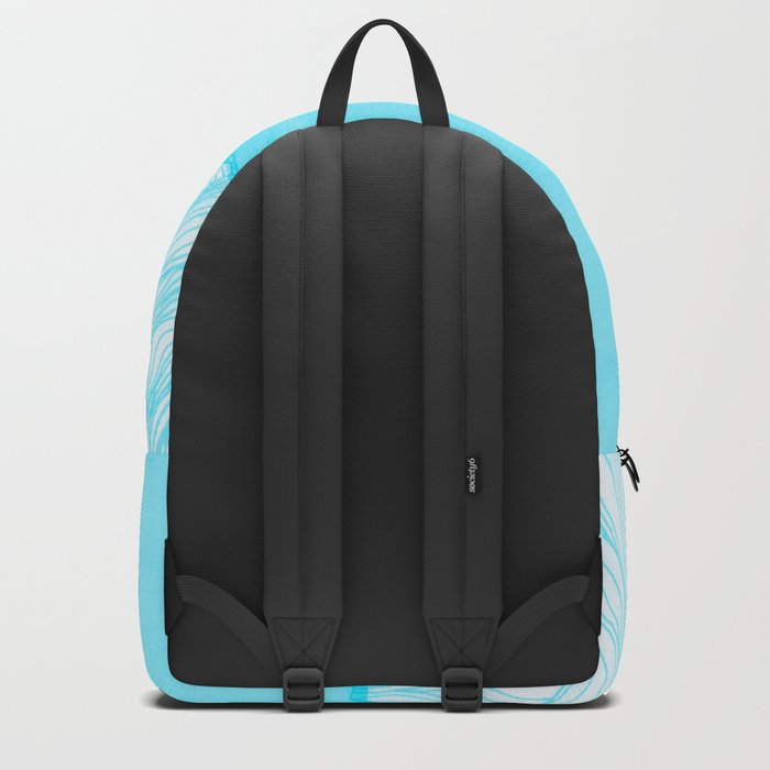 Lines in the mountains - Aqua Backpack