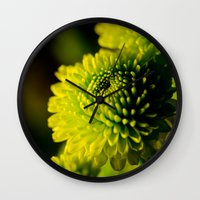 lime Wall Clocks featuring Lime by Nicole Stamsek
