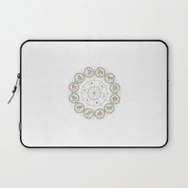 Zodiac map cosmos universe moon-vibes galaxy space pattern green decor buyart,  society6 Laptop Sleeve