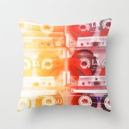 Cassette in group#exposure#film#effect Throw Pillow
