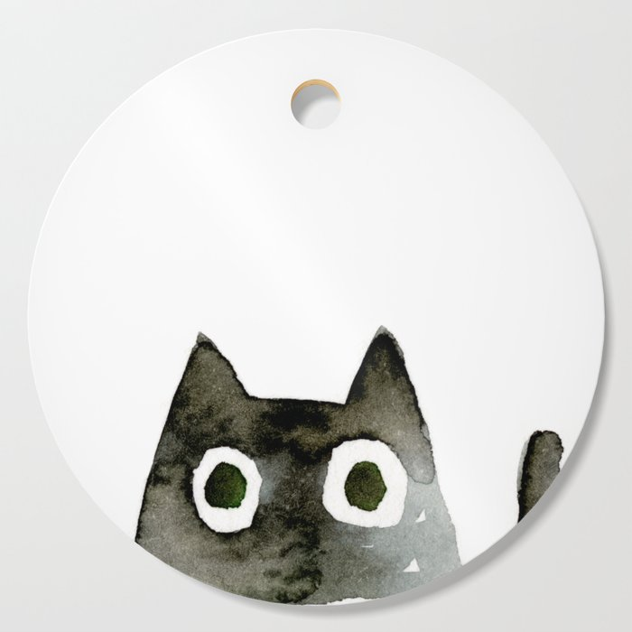 I Love Cats No.13 by Kathy Morton Stanion Cutting Board