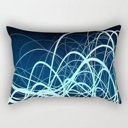 Blue Movement2 Rectangular Pillow