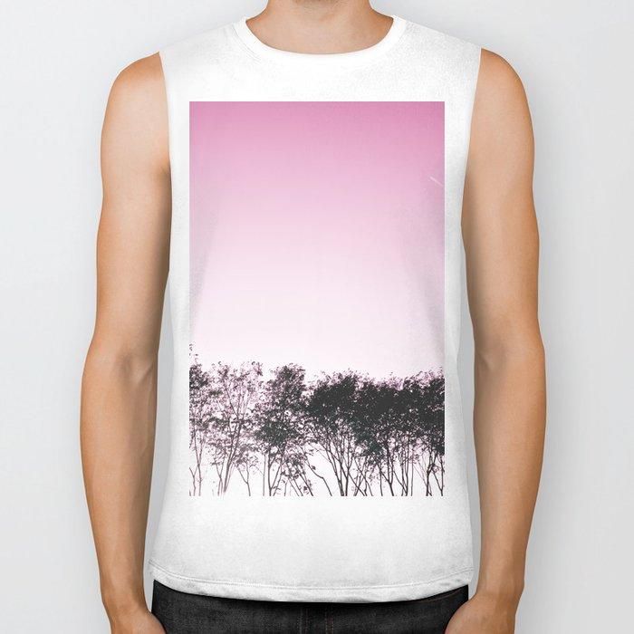 Lovely pink sky Biker Tank