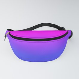 Neon Blue and Hot Pink Ombré Shade Color Fade Fanny Pack