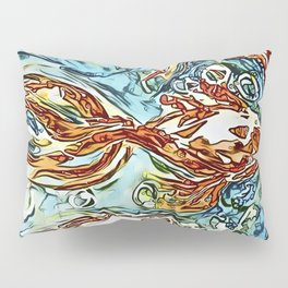 Bubbly Goldfish watercolor by CheyAnne Sexton Pillow Sham