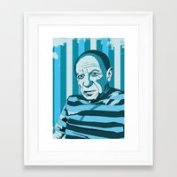 picasso Framed Art Prints featuring Picasso by Alex Bardera