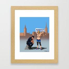 Swedish police Framed Art Print