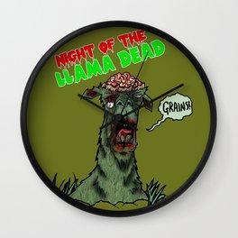 Night of the Llama Dead! Wall Clock