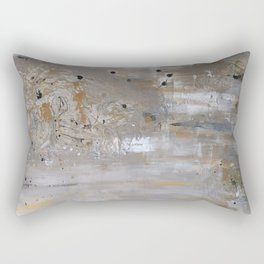 Silver and Gold Abstract Rectangular Pillow