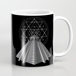 Aztec Pyramid Mayan Mexican Sacred Geometry Coffee Mug