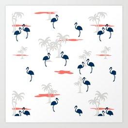 Coral Sands (white) Art Print