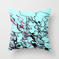 champagne Throw Pillows featuring champagne by austeja saffron