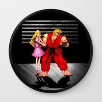 barbie Wall Clocks featuring Barbie & Ken. by Sam Pea