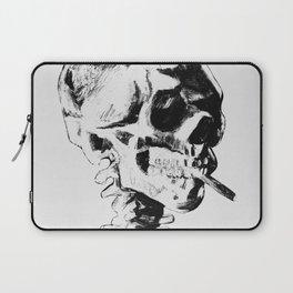 Skull Smoking A Cigarette Laptop Sleeve
