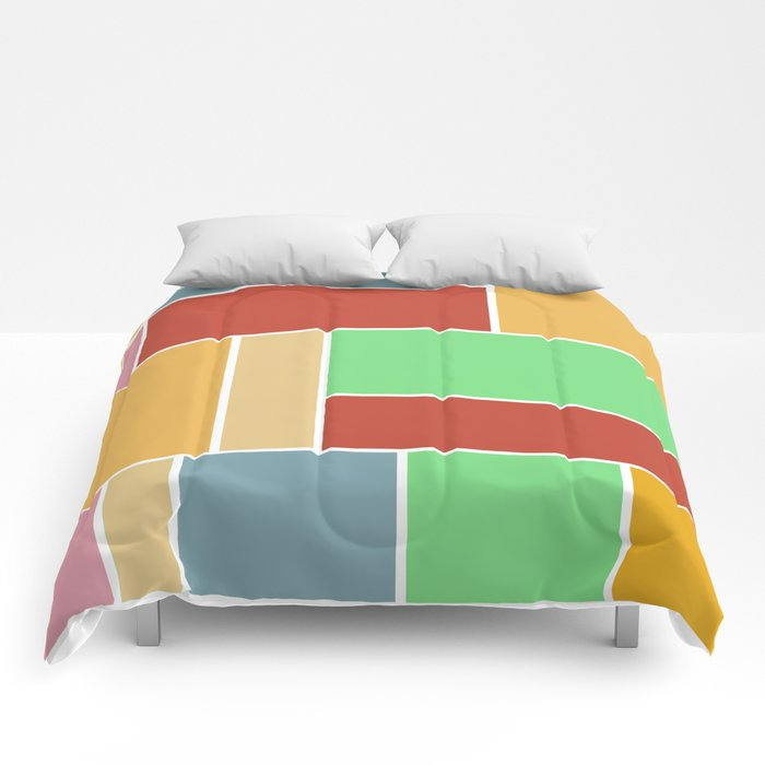 Abstract #347 60's Color Palette Comforters