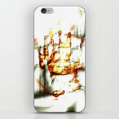 Trace of the hand iPhone Skin