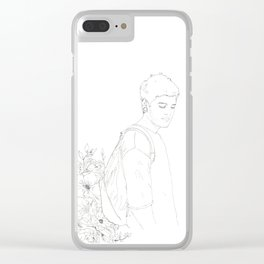 Inundated with Flowers Clear iPhone Case