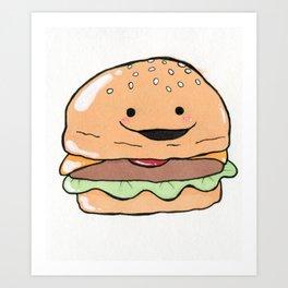 Hamburger Cutie Art Print