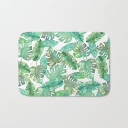 palm leaves 2 Bath Mat