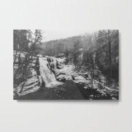 Snowy Bald River Falls Metal Print