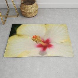 Stamen With Yellow Hibiscus Petal Background  Rug