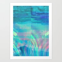 turquoise Art Prints featuring turquoise by Hannah