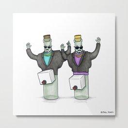 It's Wine in a Box Metal Print