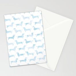 Sausage Dog Army (Blue) Stationery Cards