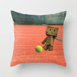 Danbo on tour IV. Throw Pillow