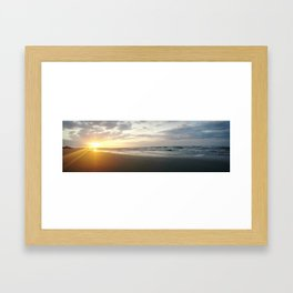 Beach sunrise Framed Art Print