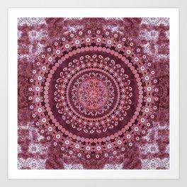 Boho Rosewood Mandala Art Print