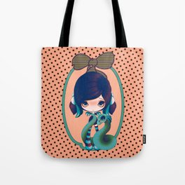 Peach & Blue Goth Dragoness Tote Bag